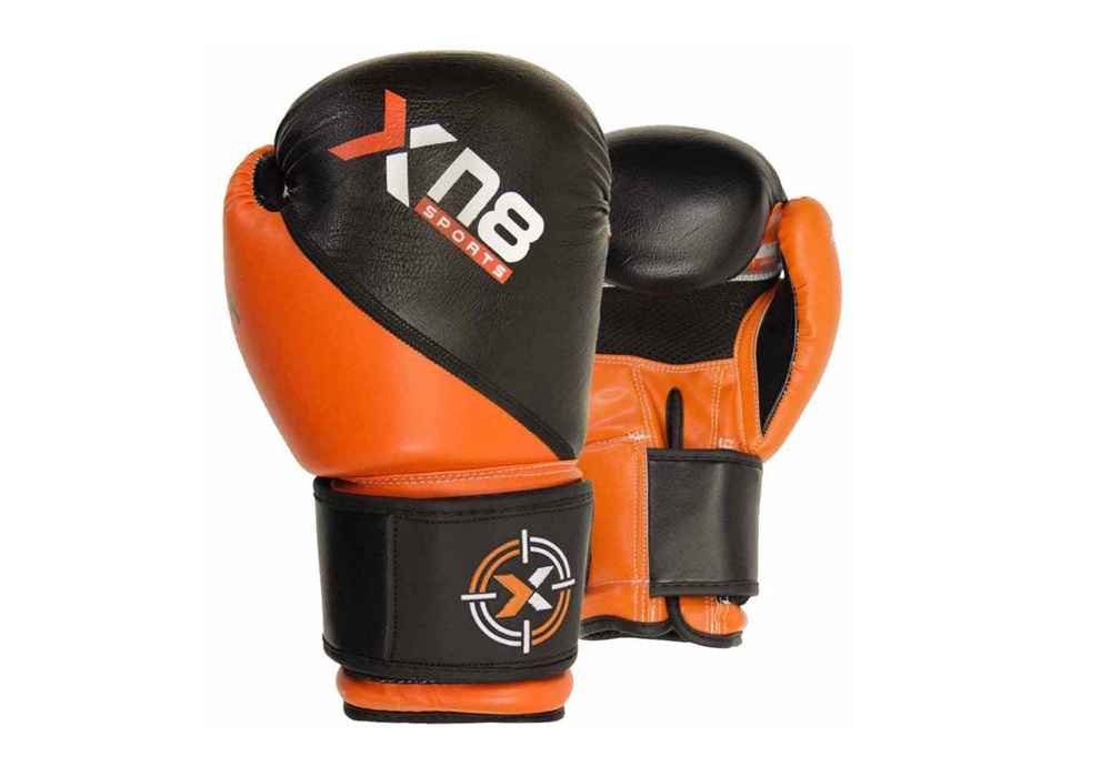 MMA Authentic Leather Grappling Gloves Sparring Strike Punch Mitts Box Training